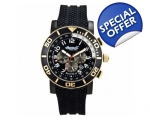 Ingersoll IN3207GBK Mens Bison Black Dial and Ru..