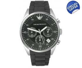 Emporio Armani Sport Black Chronograph Watch AR5868