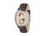 Fossil ME1033 Mens Champagne Dial and Brown Leat..