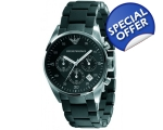 Emporio Armani Sport Black Chronograph Watch AR5..