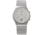 Skagen 733XLSS Unisex Dual Time Zone Function Me..