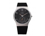 Skagen Denmark Mens Watch Black Silicone Titaniu..