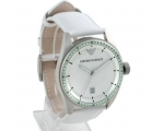Emporio Armani AR0525 White Leather Unisex Desig..