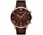 Emporio Armani AR1616 Mens Brown Leather Watch
