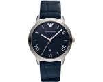 Emporio Armani AR1651 Blue Dino Men's Leather St..