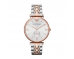 Emporio Armani AR1677 Mens Rose Gold & Steel Watch