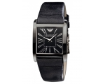 Emporio Armani AR1637 Women's Black Slim Leather..