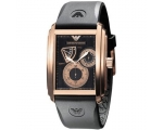 Emporio Armani Men's Watch Meccanico Rubber Stra..