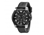 Emporio Armani AR5839 Large Chrono Mens Black Sp..