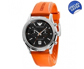 Emporio Armani AR5849 Mens Orange Sports Designer Watch