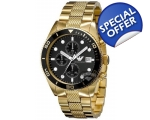 Armani ar5857 Gents Gold Stainless Steel Chronog..