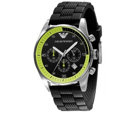 Emporio Armani Men's Black Sports Watch AR5865