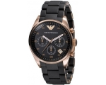 Emporio Armani Women's AR5906 Fashion Black Dial..