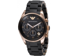 Emporio Armani Women's AR5906 Fashion Black Dial Watch