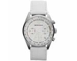 Emporio Armani AR6011 Womens White Leather Chron..