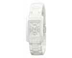 Emporio Armani AR1409 Ladies White Ceramic Recta..