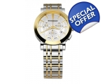 Burberry Men's BU1374 Silver and Gold two-tone W..
