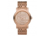 Burberry BU1864 Men's Rose Gold Tone Stainless S..