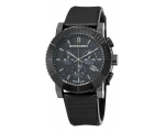 Burberry BU2301 Gents Black Chronograph Rubber S..