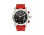 Burberry BU7706 Sport Chronograph Red Rubber Men..