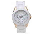 Fossil Woman's Ceramic Chronograph White Watch C..
