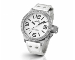 TW Steel Canteen White Dial Leather Ladies Watch..
