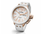 TW Steel CEO Canteen White Dial White Leather St..