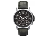 DKNY NY1464 - Mens Chronograph Black Leather Str..