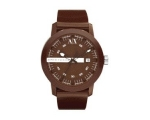 Armani Exchange Brown Dial Brown Plastic Mens Wa..