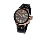 TW Steel CEO Canteen Black Leather Mens Watch CE..