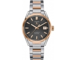 Tag Heuer Carrera Anthracite Dial Steel and 18kt..
