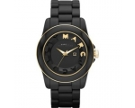Marc Jacobs Black Dial Black Acrylic Ladies Watc..