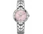 Tag Heuer Link Diamond Pink Guilloche Dial Ladie..