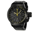 TW Steel Canteen Black Dial Black Leather Mens W..