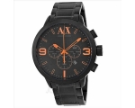 Armani Exchange Black Dial Black Ion-plated Mens..