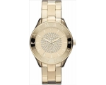 Armani Exchange Crystal Pave Dial Gold-Tone Ladi..