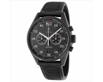 Tag Heuer Carrera Black Dial Black Leather Mens ..