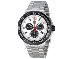 Tag Heuer Formula 1 Chronograph White Dial Stain..