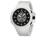 Armani Exchange Analog-Digital White Silicone Me..