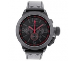 TW Steel Cool Black and Red Chronograph Mens 45m..