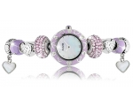 Accurist Ladies Silver Plated Charmed Watch LB14..