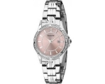 Accurist Ladies LB1537P Silver Pink Dial Bracele..