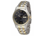 Accurist Watches MB798GR Mens Black Silver Gold ..