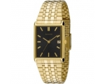 Accurist Men's Black Dial Gold Tone Stain Steel ..