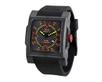 iTime Unisex Black Dial Black Strap Watch MC4300..