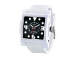 iTime Unisex Quartz Black Dial White Strap MC430..