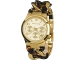 Michael Kors Chain Link Acrylic Gold-Tone Ladies..