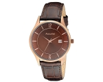 Accurist MS651 Mens Brown Leather Strap Watch