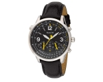 Accurist Men's Aviator Black Dial Leather Strap ..
