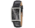 Accurist MS894GR Gents Black Leather Strap Black..